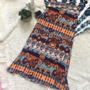 Tribal sunny print maxi skirt